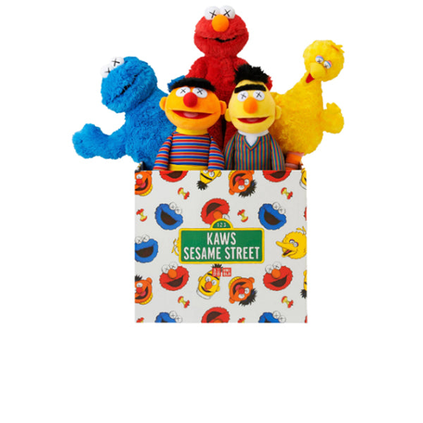 KAWS X UNIQLO SESAME STREET PLUSH TOY COMPLETE BOX SET