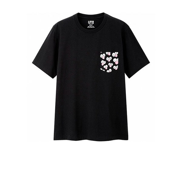 KAWS X UNIQLO BFF POCKET TEE BLACK SS19