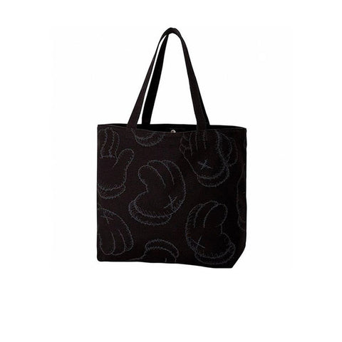 KAWS X UNIQLO HANDS TOTE BAG BLACK