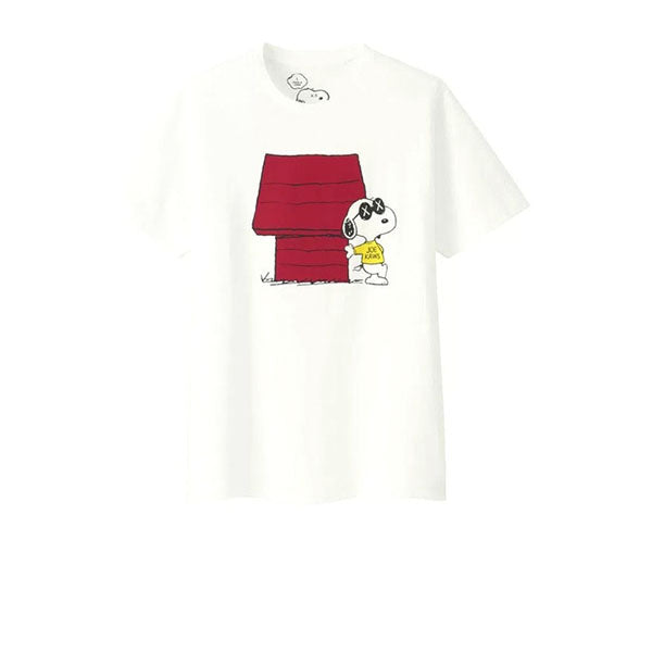 KAWS X UNIQLO X PEANUTS JOE KAWS DOGHOUSE TEE WHITE SS17