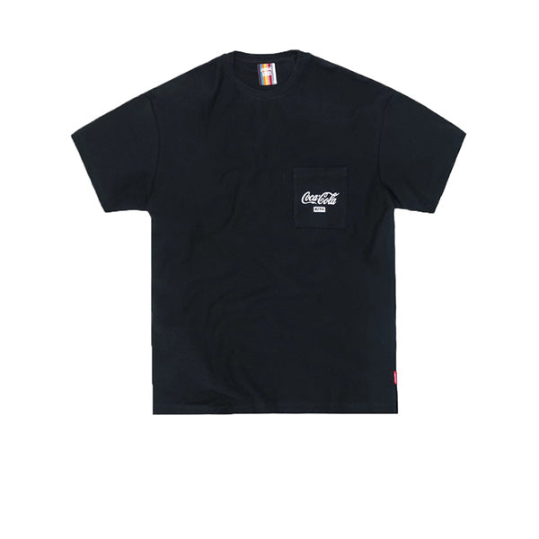 KITH X COCA-COLA QUINN POCKET TEE BLACK SS19