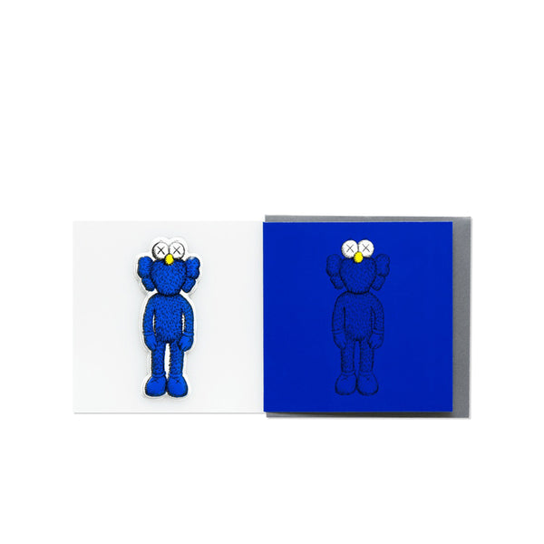 KAWS BFF GREETING CARD (WITH PUFFY STICKER) BLUE