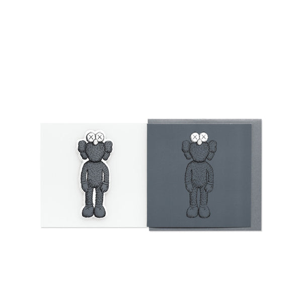 KAWS BFF GREETING CARD (WITH PUFFY STICKER) DARK GREY