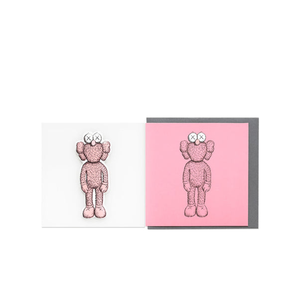 KAWS BFF GREETING CARD (WITH PUFFY STICKER) PINK