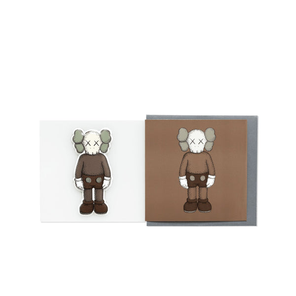 KAWS COMPANION GREETING CARD (WITH PUFFY STICKER) BROWN
