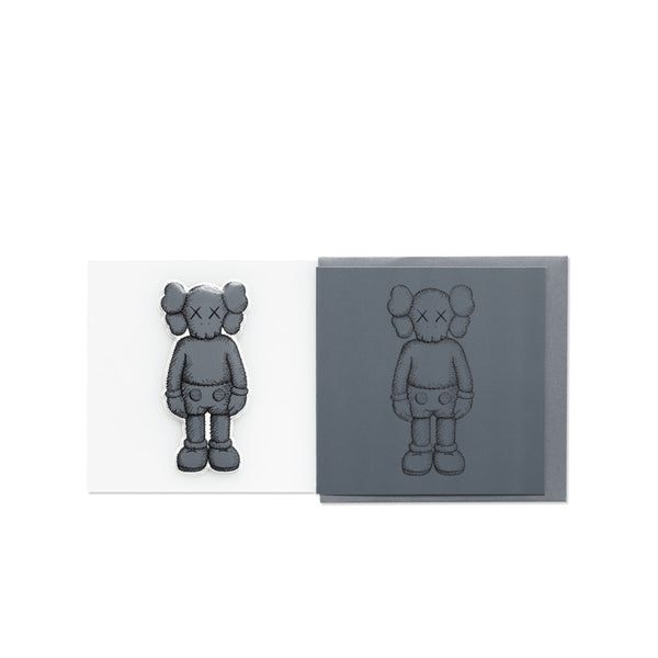 KAWS COMPANION GREETING CARD (WITH PUFFY STICKER) DARK GREY