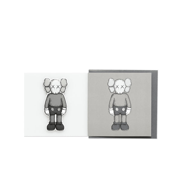 KAWS  COMPANION GREETING CARD (WITH PUFFY STICKER) GREY