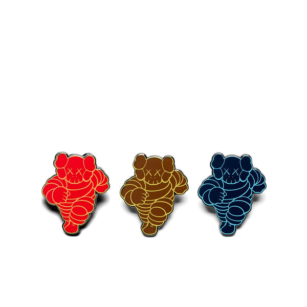 KAWS CHUM PIN RED NAVY OLIVE (SET OF 3) FW19