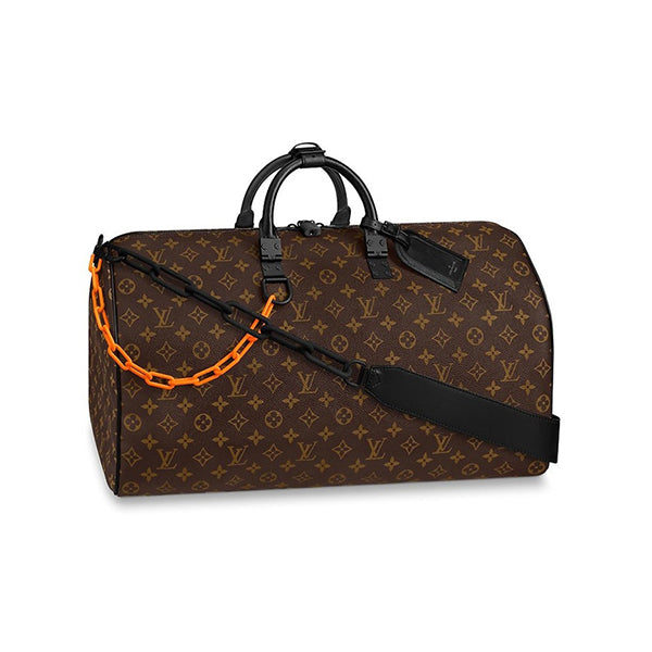 LOUIS VUITTON KEEPALL BANDOULIERE BLACK-TONE 50 BROWN