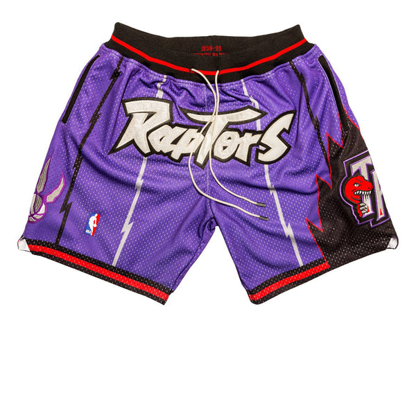 MITCHELL & NESS x JUST DON NBA TORONTO RAPTORS SHORTS PURPLE