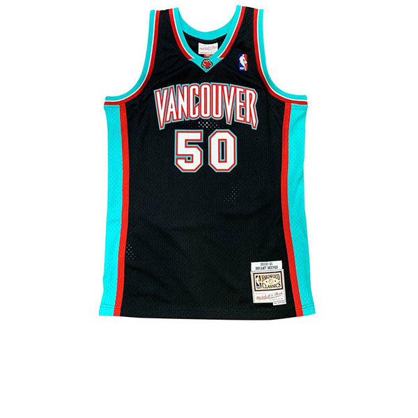 MITCHELL & NESS NBA HARDWOOD CLASSIC SWINGMAN VANCOUVER GRIZZLIES BRYANT REEVES JERSEY BLACK