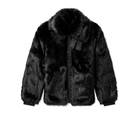 NIKE AMBUSH WOMENS REVERSIBLE FAUX FUR COAT BLACK SAIL AQ9225-010