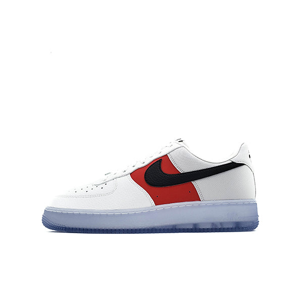 NIKE AIR FORCE 1 LOW WHITE RED BLACK ICY SOLES 2020