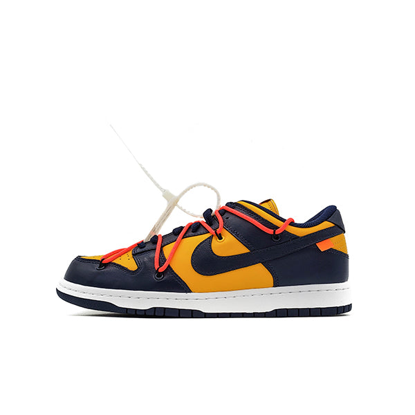 OFF-WHITE X NIKE DUNK LOW UNIVERSITY GOLD MIDNIGHT NAVY 2019