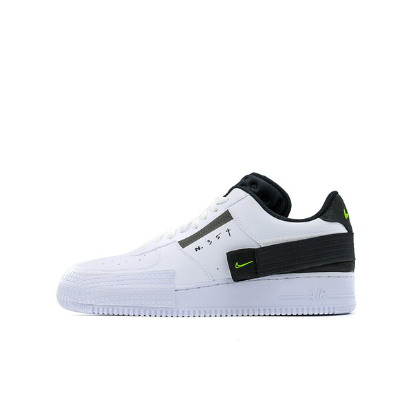 "NIKE AIR FORCE 1 TYPE ""WHITE BLACK VOLT"""