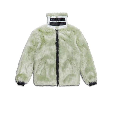 NIKE AMBUSH WOMENS REVERSIBLE FAUX FUR COAT JADE HORIZON BLACK AQ9225-390