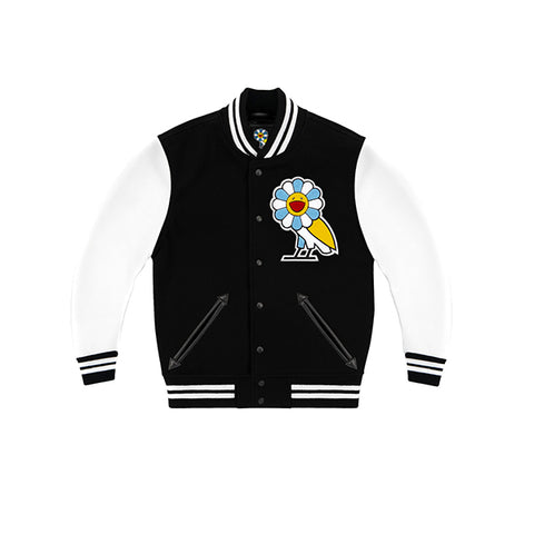 "OVO X MURAKAMI TEAM JACKET ""BLACK/WHITE"""