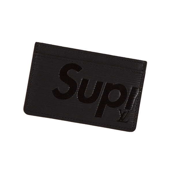 LOUIS VUITTON X SUPREME CARD HOLDER BLACK 2017