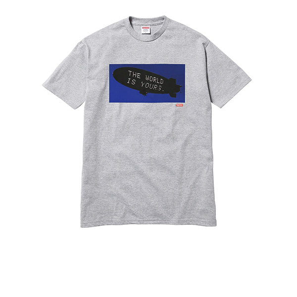 SUPREME SCARFACE BLIMP TEE GREY FW17