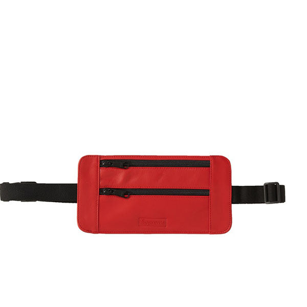 SUPREME LEATHER WAIST/SHOULDER POUCH RED SS19