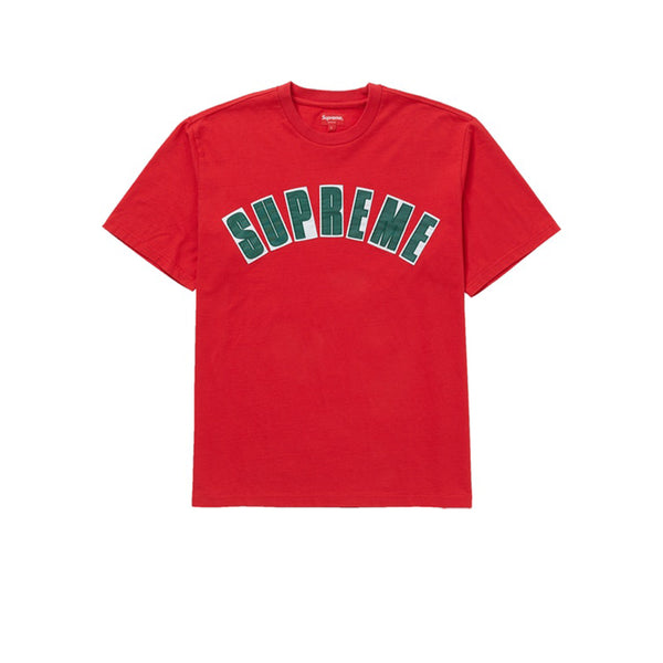 SUPREME ARC APPLIQUE S/S TOP RED SS20