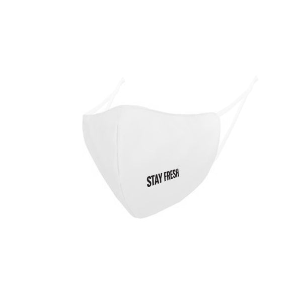 STAY FRESH MEDI FABRIC REUSABLE MASK WHITE