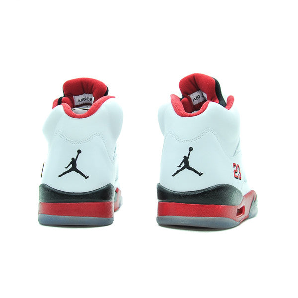 "AIR JORDAN 5 ""FIRE RED BLACK TONGUE"" 2013 136027-120"