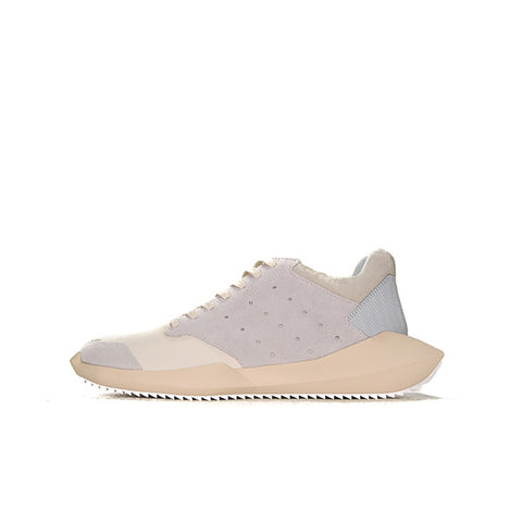 "ADIDAS X RICK OWENS TECH RUNNER ""WHITE/GREY"" B35085"