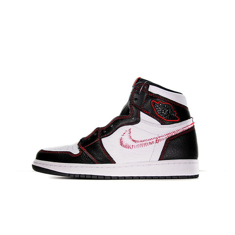 "AIR JORDAN 1 ""DEFIANT WHITE BLACK GYM RED"" 2019 CD6579-071"