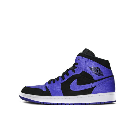 "AIR JORDAN 1 MID ""BLACK DARK CONCORD"" 2018 554724-051"