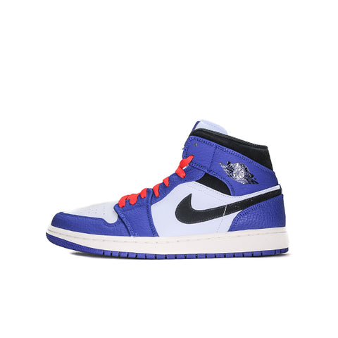 "AIR JORDAN 1 MID ""DEEP ROYAL BLUE BLACK"" 2019 852542-400"
