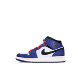 "AIR JORDAN 1 MID SE GS ""DEEP ROYAL"" 2019 BQ6931-400"