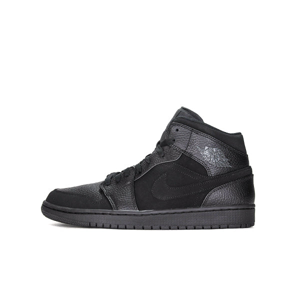 "AIR JORDAN 1 MID ""TRIPLE BLACK"" 2019 554724-064"