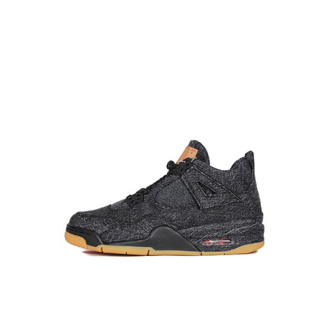 "AIR JORDAN 4 GS ""LEVI'S BLACK"" 2018 AQ9103-001"