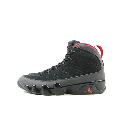 "AIR JORDAN 9 ""BLACK/VARSITY RED-DARK CHARCOAL"" 2010 302370-005"