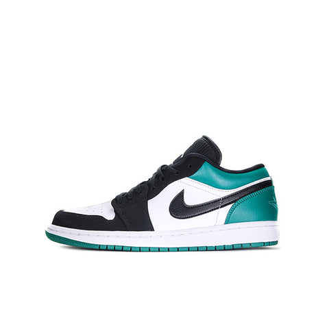 "AIR JORDAN 1 LOW ""WHITE BLACK MYSTIC GREEN"" 2019 553558-113"