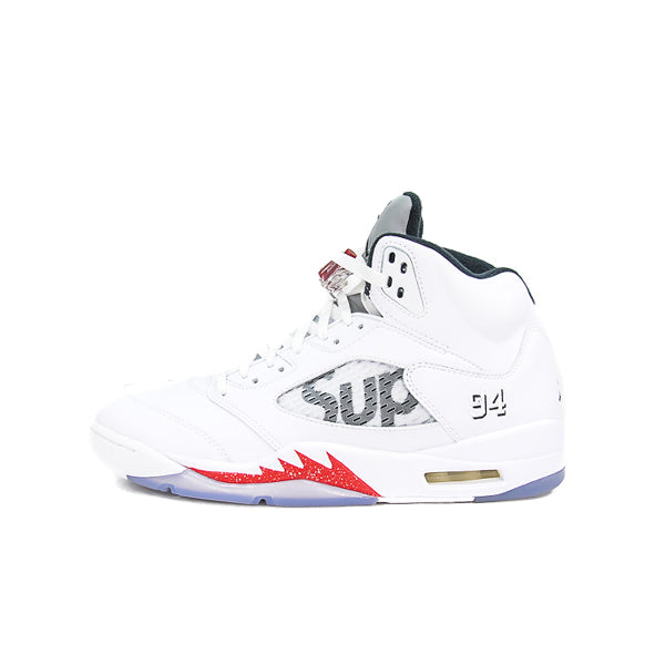 "AIR JORDAN 5 RETRO ""SUPREME WHITE"" 2015"