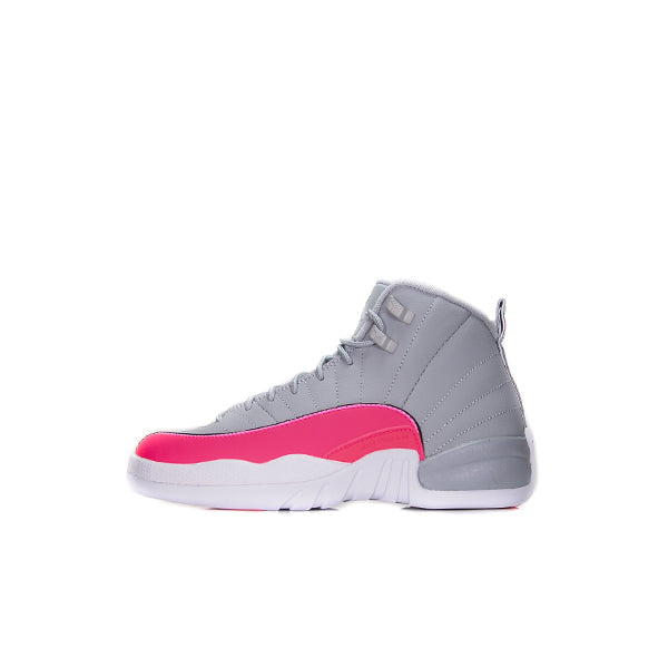 "AIR JORDAN 12 GS ""WOLF GREY RACER PINK"""