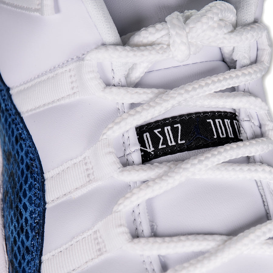 "AIR JORDAN 11 LOW ""NAVY SNAKESKIN"" 2019 CD6846-102"
