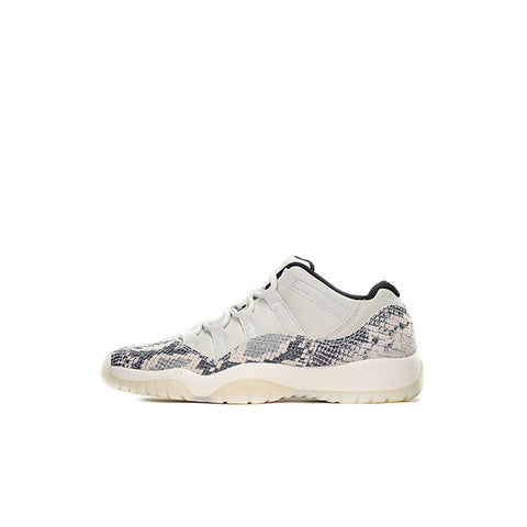 "NIKE AIR JORDAN 11 SNAKESKIN LOW ""LIGHT BONE"" GS CD6847-002"