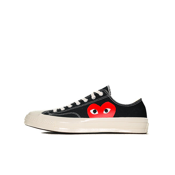"CONVERSE CHUCK TAYLOR ALL STAR 70S OX COMME DES GARCONS PLAY ""BLACK"" 2017 150206C"