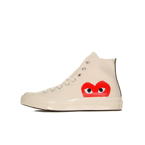 "CONVERSE CHUCK TAYLOR ALL-STAR 70S HI COMME DES GARCONS ""PLAY WHITE"" 2018 150205C"