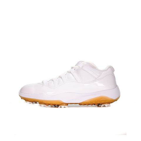 "AIR JORDAN 11 LOW GOLF ""WHITE METALLIC GOLD"" 2019 AQ0963-102"