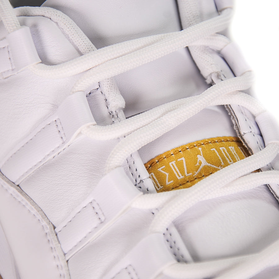 "AIR JORDAN 11 LOW GOLF ""WHITE METALLIC GOLD"""