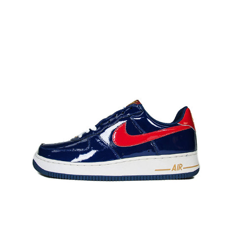 "NIKE AIR FORCE 1 LOW PATENT ""NAVY/CRIMSON"" 2005 306353-462"