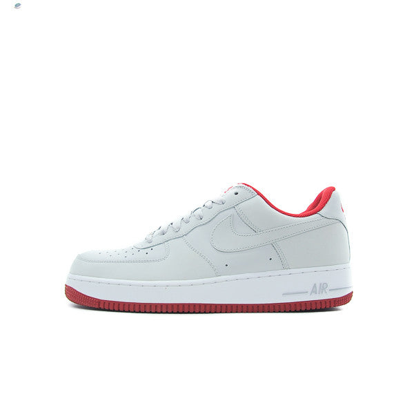 "NIKE AIR FORCE 1 ""NEUTRAL GREY VARSITY RED"" 313642-007"