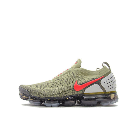 NIKE AIR VAPORMAX FK MOC 2 NEUTRAL OLIVE HABANERO RED 2018 AH7006-200