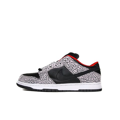 "NIKE SB DUNK LOW SUPREME ""BLACK CEMENT"" 2002 304292-131"