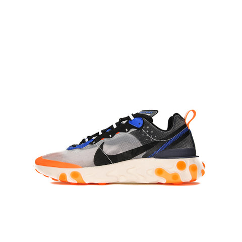 "NIKE REACT ELEMENT 87 ""THUNDER BLUE/TOTAL ORANGE"" 2018 AQ1090-004"