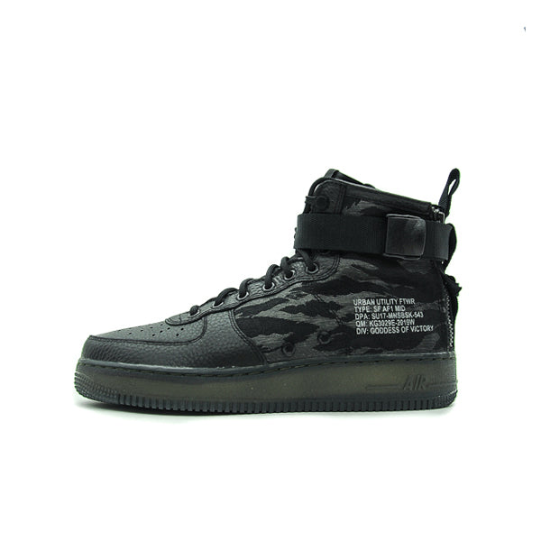 NIKE SF AIR FORCE 1 MID BLACK CARGO KHAKI